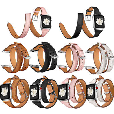AU25.99 • Buy 40/44mm Genuine Leather Apple Watch Band Strap IWatch Series SE 6 5 4 3 2 38/42