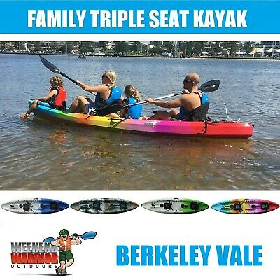 AU959 • Buy Double Family Kayak Triple Fishing Sit On Top Recreational With SEATS PADDLES