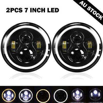AU71.24 • Buy 2X 7 Inch Round LED Headlights H4 For Chevy Pickup Truck 3100 Jeep Wrangler JK