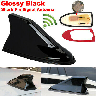 Universal Gloss Black Car Shark Fin FM/AM Radio Signal Antenna Auto Roof Aerial  • 14.99£