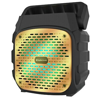 "$29.99 • Buy Fully Amplified Portable 1000 Watt Peak Power 6"" Bluetooth Speaker SKY6 - Gold"