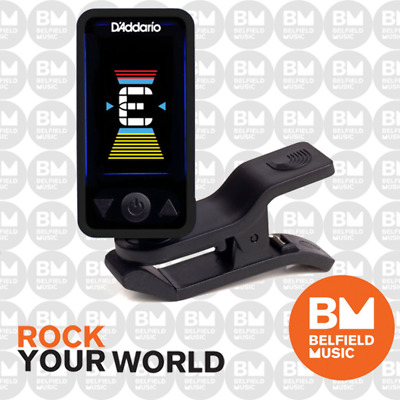 AU24.99 • Buy D'Addario Planet Waves Eclipse Guitar Clip-On Tuner Black  - Brand New