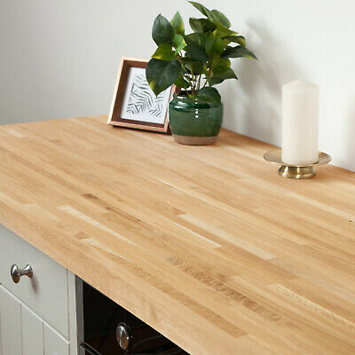 Solid Oak Kitchen Wood Worktops 2M 3M 4M & Breakfast Bars, Solid Wooden Worktop • 25£