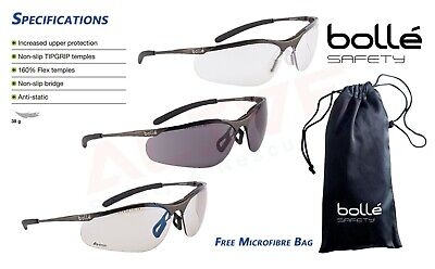 Bolle Contour Safety Glasses Metal Frame UV Protection Spectacles With Free Bag  • 6.99£