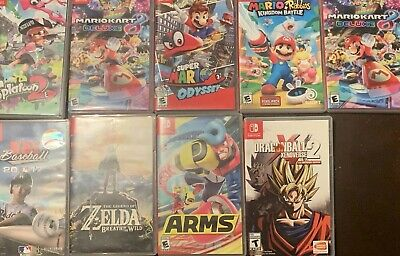 $48 • Buy Lot Of 9 Empty Nintendo Switch Cases With Originalocover-art - No Games Included