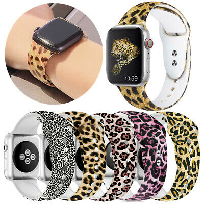 $ CDN11.78 • Buy Print Apple Watch Band Print Design Rubber Strap Replacement Series 4 3 2 1 NEW