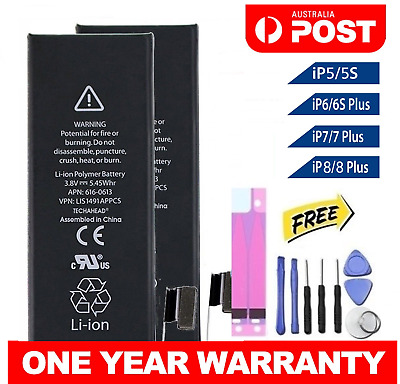 AU14.90 • Buy New IPhone OEM Battery Replacement For Apple IPhone 5 5S 5C 6 6S 7 8 Plus