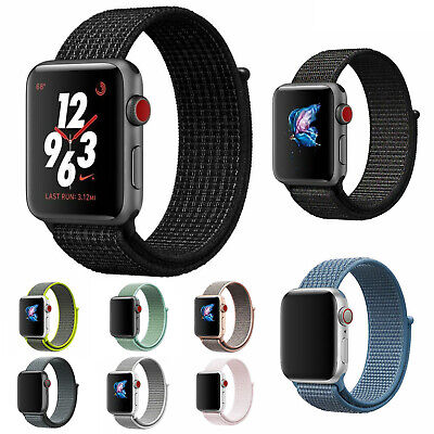 $ CDN3.58 • Buy Nylon Woven Bracelet Strap Sport Loop Watch Band For Apple IWatch Series 4 3 2 1