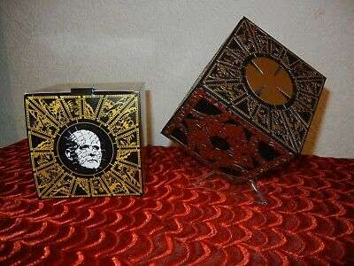 HELLRAISER PUZZLE BOX With STAND & BOX -  HORROR HALLOWEEN PROP DISPLAY 4  CUBE • 53.86£