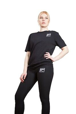 Hercufit Women Original Black T Shirt Gym Clothing Fitness Sports Large Size • 14.99£