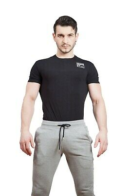 Men Hercufit Original Black T Shirt Gym Clothing Fitness Sports Medium Size • 14.99£