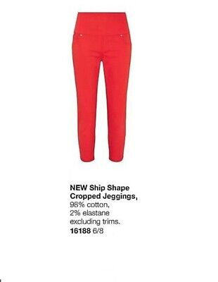 Avon Ship Shape Jeggings ~ Red ~ In Size 6/8 • 13.99£