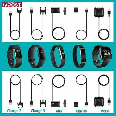 AU10.17 • Buy USB Charger Charging Cable For FitBit Charge 2/3 Alta HR/Alta Versa /Versa 2