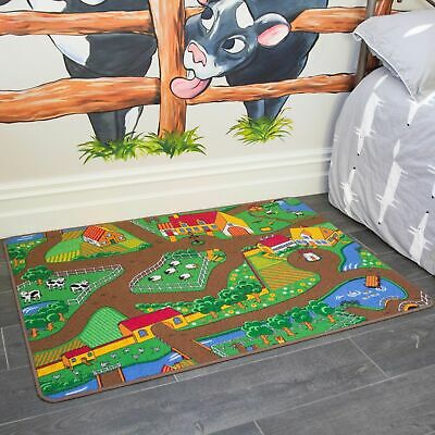 Kids Childrens Tractor Rugs Small Large Boys Girls Farming Bedroom Floor Mats • 14.95£