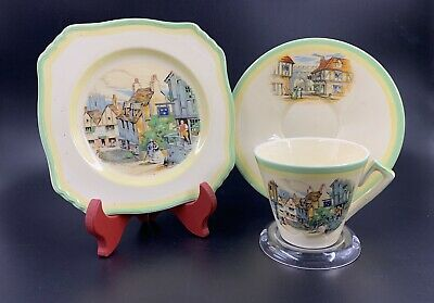$ CDN39 • Buy Royal Winton Grimwades Ye Olde Innes Tea Trio Set Square Dessert Plate England