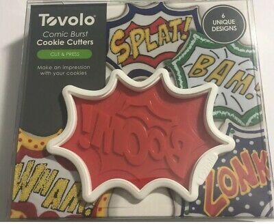 Tovolo Comic Book Burst Cookie Cutters Dishwasher Safe - Set Of 6 • 9.16£