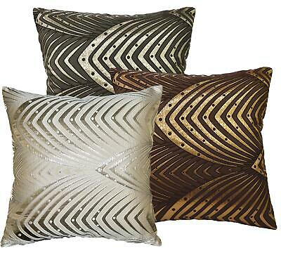 Hj -Metallic Peacock Ace Pattern Cushion Seatr Pad Cover/Pillow Case Custom Size • 14.09£