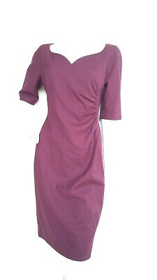 AU160.75 • Buy Designer LK BENNETT Shift Dress Size 14 -USED ONCE- Knee Length 3/4sleeve Ruched