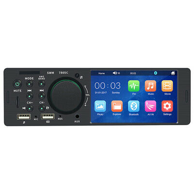 AU51.49 • Buy 4.1  Bluetooth Car Stereo Radio 1DIN  HD MP5 FM Player Touch Screen With Remote