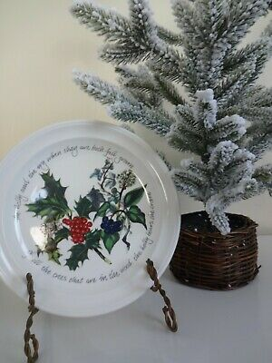 Portmeirion THE HOLLY And THE IVY Christmas Salad Plate Made In Britain  • 22$
