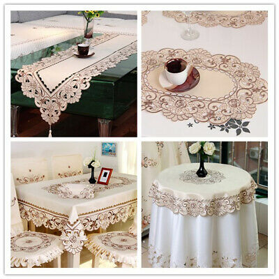 AU16.80 • Buy Embroidered Table Runner Dining Table Cloth Cover Mats Wedding Party Decor Satin