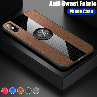 AU5.40 • Buy For IPhone XS Max XR XS 8 7 Plus Magnetic Ring Car Holder Stand Cloth Case Cover