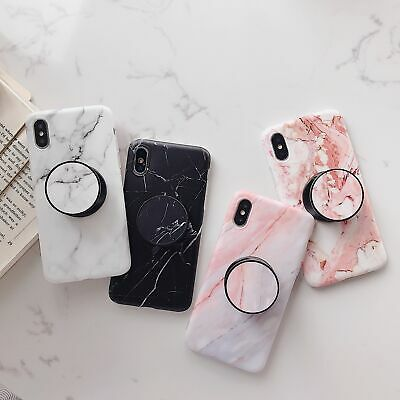 AU14.89 • Buy For IPhone XS Max XR 6S 78 Plus 11 Pro Max Case Marble Stone Put Up Holder Cover