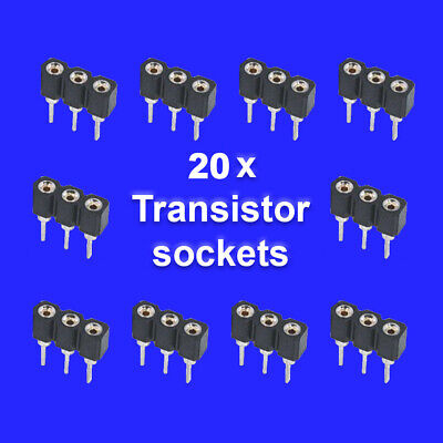 £4 • Buy 20 X Transistor Sockets For Guitar Effects Pedals - Standard 2.54mm Vero Pitch