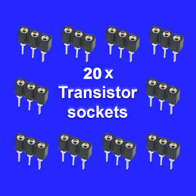 20 X Transistor Sockets For Guitar Effects Pedals • 5£