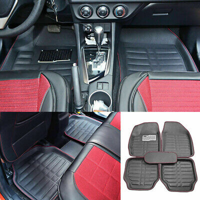 $39.50 • Buy Auto Floor Mats For Rubber Liners Black Heavy Duty All Weather For Car 5pc Set