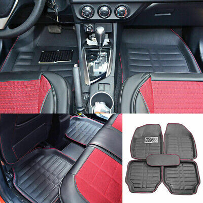 $35.90 • Buy Auto Floor Mats For Rubber Liners Black Heavy Duty All Weather For Car 5pc Set