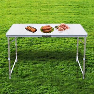 4ft Folding Camping Table Aluminium Picnic Portable Adjustable Party Bbq Outdoor • 19.99£