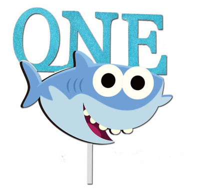 AU9.50 • Buy Baby Shark 1st 2nd Birthday Cake/cupcake Topper Bag Banner Balloons