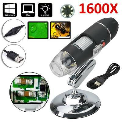 1600X USB Digital Microscope Magnifier Endoscope Camera For Phone/Tablet/Laptop • 11.39£