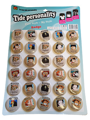 £2.95 • Buy 5x ONE PIECE ZORO JAPANESE ANIME MANGA BADGES PIN BUTTON PARTY BAG FAVOURS 4.5cm