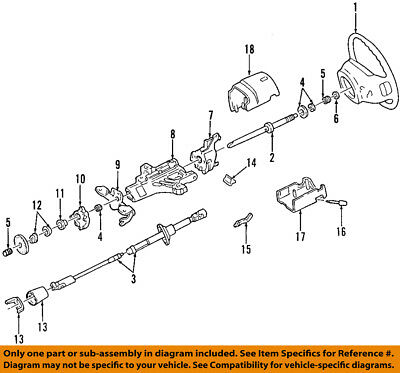 FORD OEM Steering Column-Upper Shaft F2UZ3524A • 80.23$