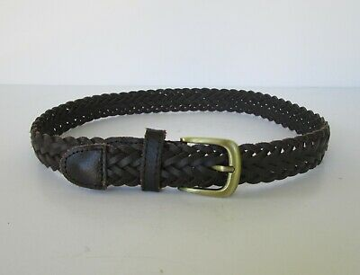 $7.99 • Buy Toddler Boys The Childrens Place Dark Brown Woven Braided Leather Belt  2 To 4