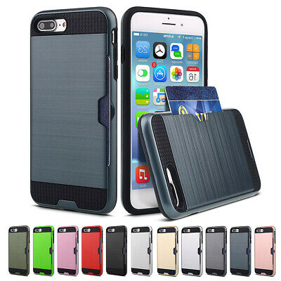 AU8.99 • Buy Hybrid Armor Card Holder Case Cover For IPhone 11 PRO XS MAX XR X 8 Plus 7 A104