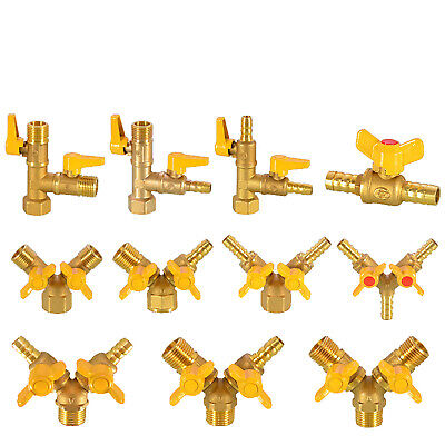 AU13.69 • Buy Brass Ball Valve Y&T Shaped M/F BSP 1/2  Fuel Air Water Pipe Tube Hose Fitting