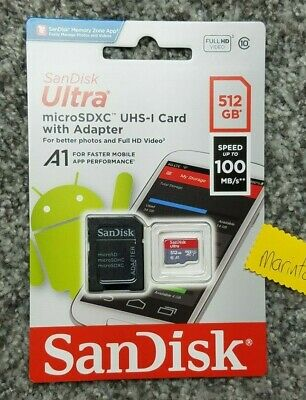 $199.90 • Buy SanDisk Ultra 512 GB Micro SD XC UHS-I Card Class 10 A1 100MB/s Memory Card