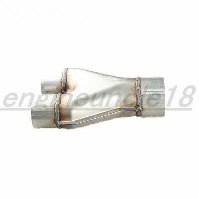 AU31.06 • Buy AUS 2  Dual Inlet 2.5  Single Outlet Aluminized Steel Exhaust Y Pipe Transitions