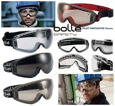 Bolle PILOT Safety Goggles Fit Over Prescription Spectacles Glasses New Version • 18.99£