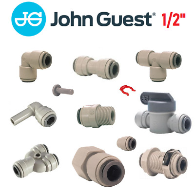 £3.99 • Buy John Guest 1/2  Push Fit Fittings Drinks Dispense And Pure Water, Valve, Tube