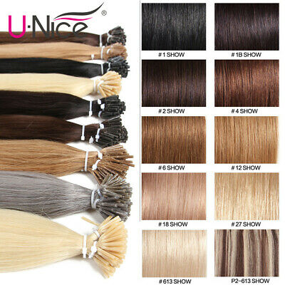 $25.84 • Buy 100S Pre Bonded Keratin Stick I Tip Remy Malaysian Human Hair Extensions 0.5g/s