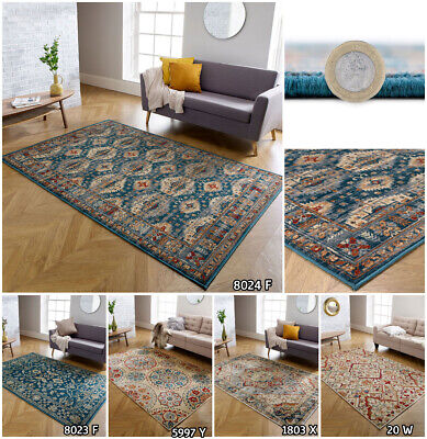 Small Extra Large Runner Multi Coloured Floral Traditional Faded Living Room Rug • 20.69£