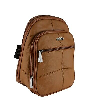 Ladies Women Leather Small Soft Backpack Rucksack Shoulder Bag Style By Lorenz • 15.99£
