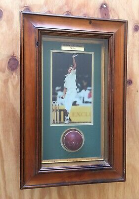 AU349 • Buy GLENN MCGRATH SIGNED LEATHER CRICKET BALL Collectable Photo Framed Limited