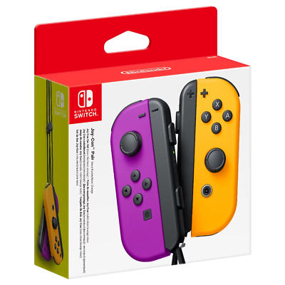 AU106.95 • Buy Nintendo Switch Joy-Con Neon Purple & Orange Controller Pair NEW