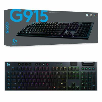 AU364.95 • Buy Logitech G915 Lightspeed RGB GL Tactile Wireless Mechanical Gaming Keyboard NEW