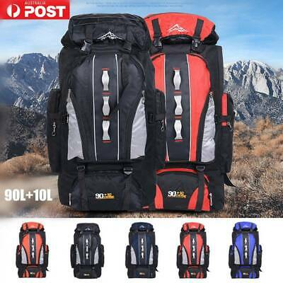 AU38.98 • Buy 100L Large Waterproof Travel Backpack Rucksack Luggage Bag Camping OutdoorHiking